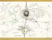 Lithograph Cocteau - Les lettres