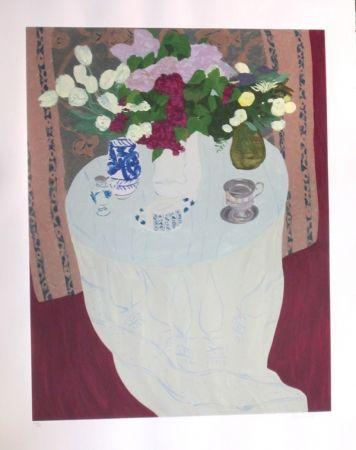 Screenprint Boncompain - Les lilas du jardin