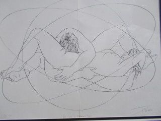 Lithograph Trémois - Les limites de l'humain