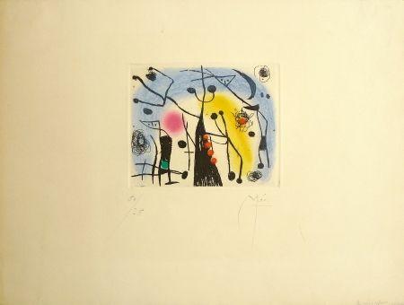 Etching And Aquatint Miró - Les Magdaleniens
