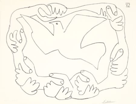Lithograph Picasso - Les mains liées IV