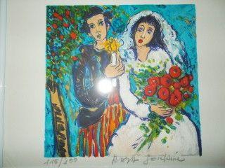 Lithograph Sorkine - Les mariés a la bougie