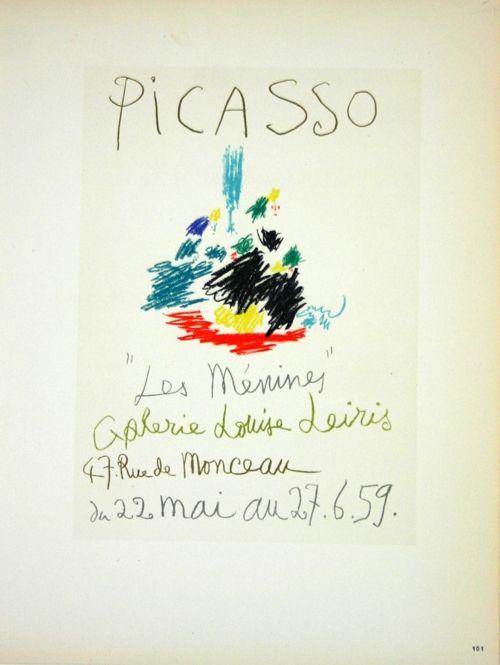 Lithograph Picasso (After) - Les  Menines