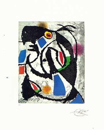 Etching Miró - Les montagnards