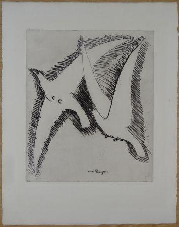 Engraving Van Dongen - Les Mouettes