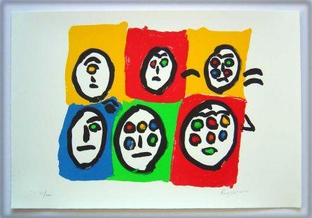 Lithograph Ionesco - Les multi-yeux