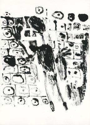 Lithograph Dubuffet - Les murs