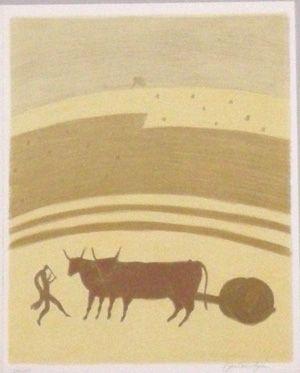 Lithograph Boncompain - Les nourritures terrestres