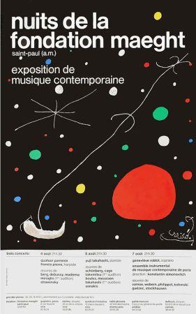 Poster Miró - LES NUITS DE LA FONDATION MAEGHT (1967). Affiche originale