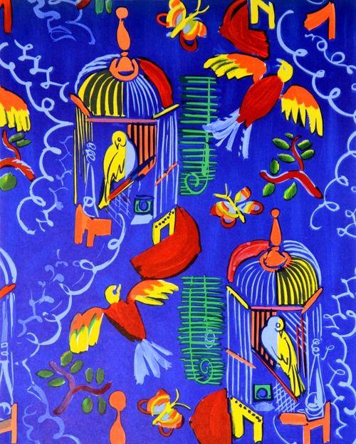 Lithograph Dufy - Les Oiseaux