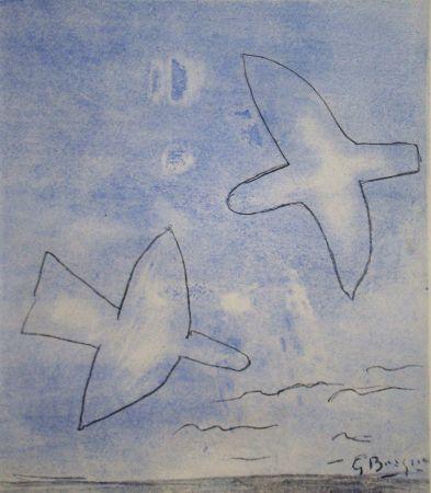 Pochoir Braque (After) - Les oiseaux