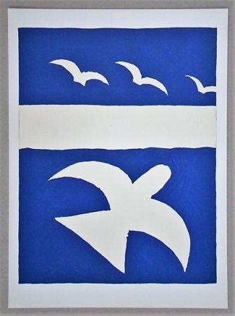 Lithograph Braque (After) - Les oiseaux