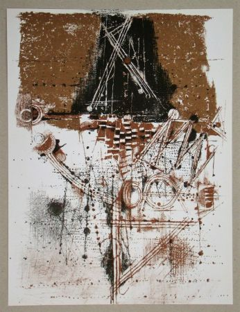 Lithograph Friedlaender - Les oiseaux