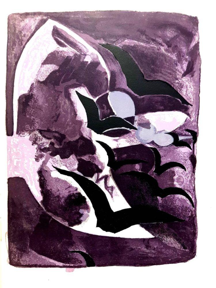 Lithograph Braque - Les Oiseaux de Nuit