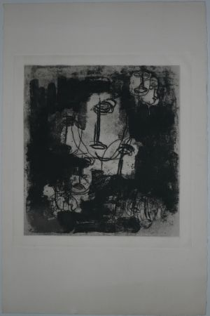 Etching And Aquatint Fautrier - Les Otages