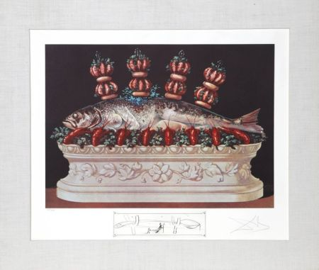 Lithograph Dali - Les Panaches Panaches from Les Diners de Gala