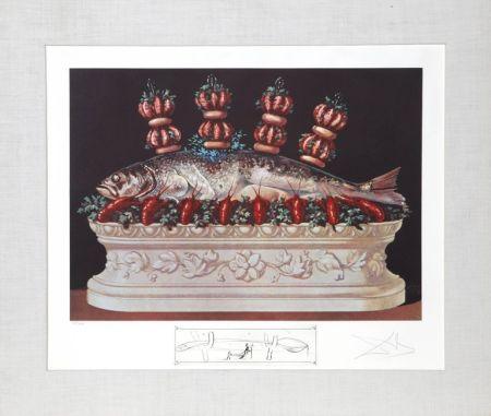 Lithograph Dali - Les panaches panaches from the Portfolio: Les Diners de Gala