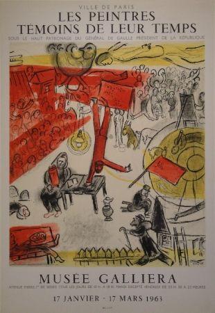 Lithograph Chagall - Les peintres témoins de leur temps
