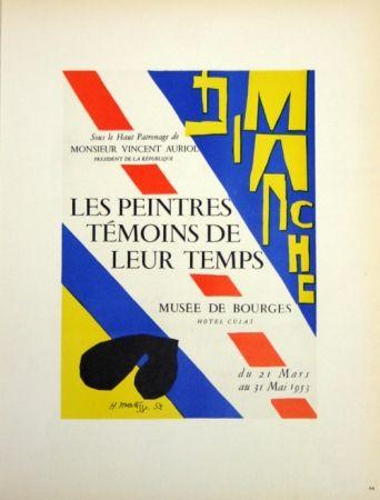 Lithograph Matisse - Les Peintres Témoins de Leur Tepls