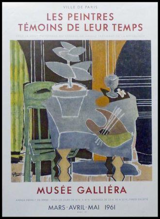 Lithograph Braque - LES PEINTRES TEMOINS DE LEUR TEMPS