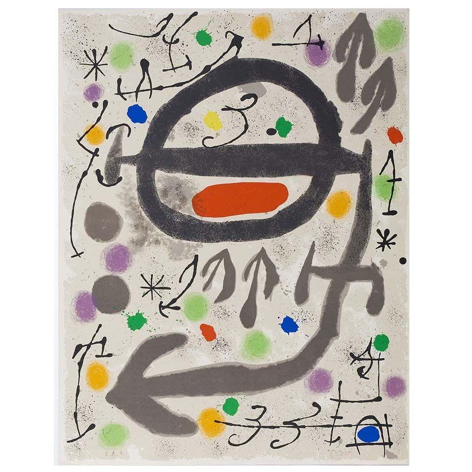 Lithograph Miró - Les Perseides: Plate 2