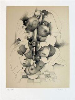 Lithograph Daboval - Les phantasmes de Berthe 3
