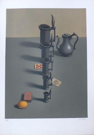 Lithograph Rohner - Les Pichets