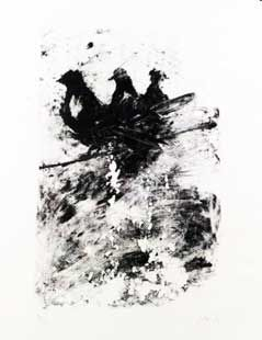 Lithograph Barcelo - Les pigeons