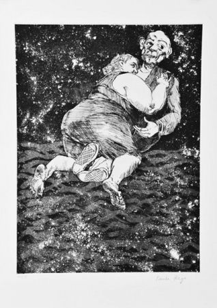 Etching And Aquatint Rego - Les Planches Courbes