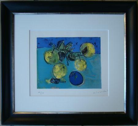 Lithograph Marchand - Les pommes