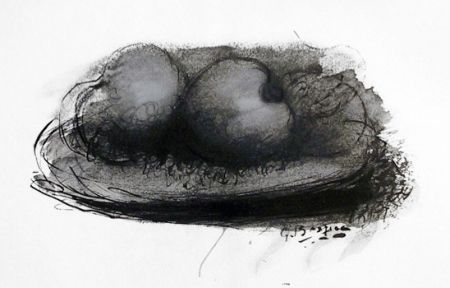 Lithograph Braque -  Les Pommes
