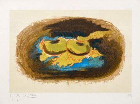 Lithograph Braque - Les Pommes et Feuilles (Apples and Leaves), 1958