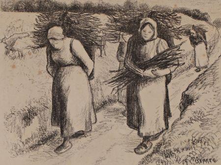 Lithograph Pissarro - Les porteuses de fagots