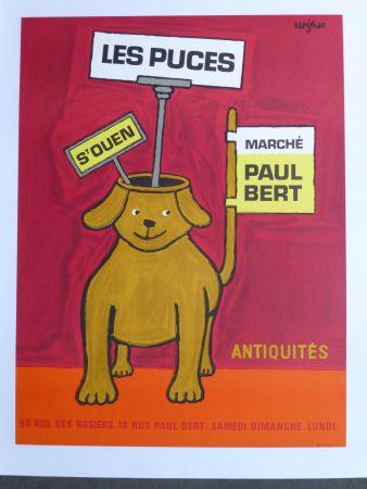 Poster Savignac - Les puces de Saint Ouen