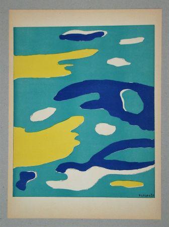 Lithograph Léger (After) - Les quatre éléments - Eau