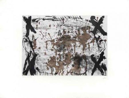 Engraving Tàpies - Les Quatre Croix