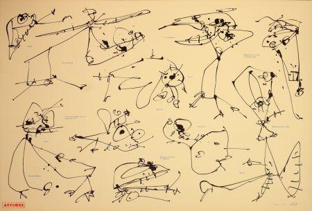 Lithograph Saura - Les quatre saisons, Automne
