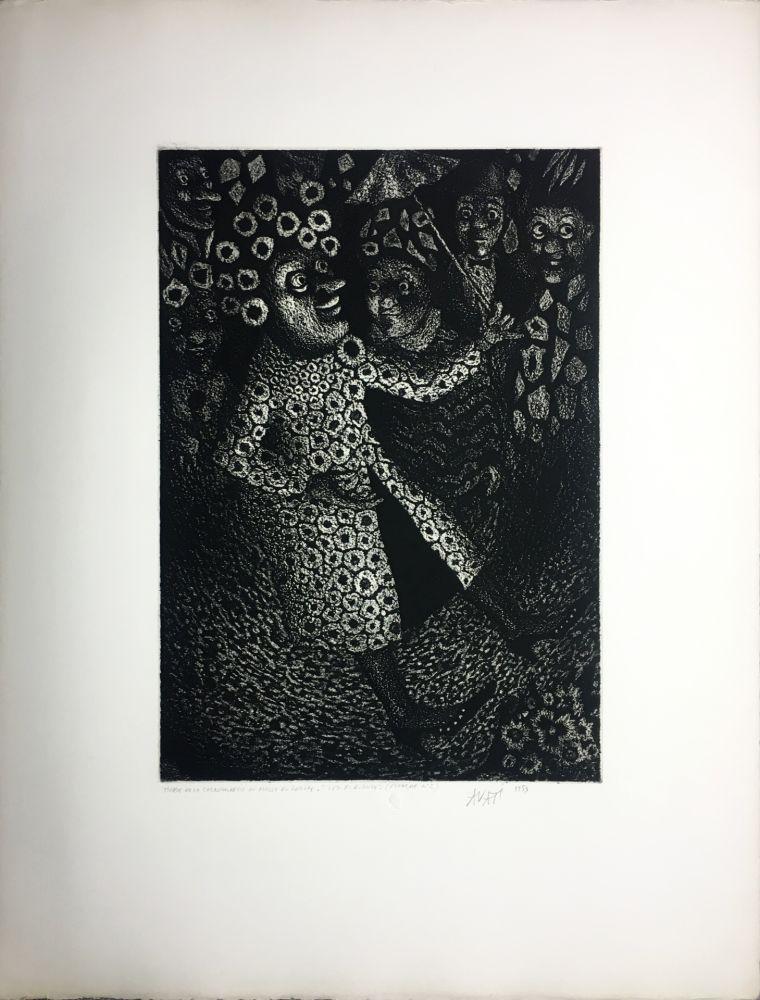 Aquatint Avati - Les Ridicules (planche n° 2) (1951)