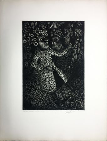 Aquatint Avati - Les Ridicules (planche n° 2) (1951)