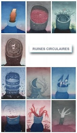 Etching And Aquatint Folon - Les Ruines Circulaires - The Circular Ruins (complet suite)