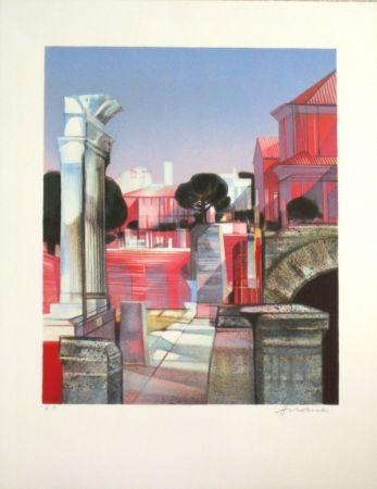 Lithograph Hilaire - Les ruines romaines