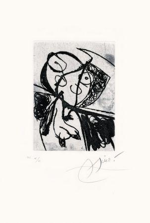Engraving Miró - Les Saltimbanques