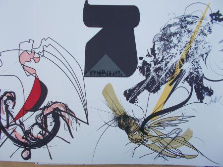 Lithograph Moretti - Les Sauterelles
