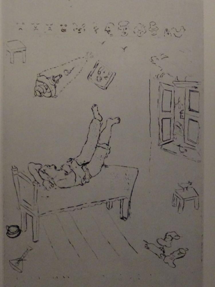 Engraving Chagall - Les sept Peches Capitaux: La Paresse 1