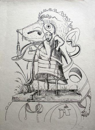 Lithograph Dali - Les Songes drolatiques de Pantagruel 11
