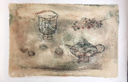 Lithograph Zao - Les theieres