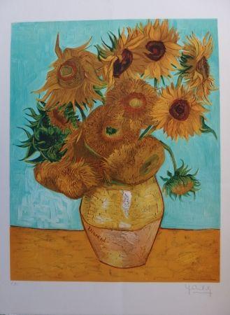 Lithograph Van Gogh - Les Tournesols