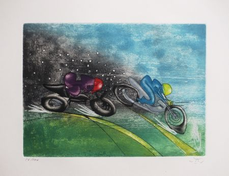 Etching And Aquatint Matta - Les Transesports