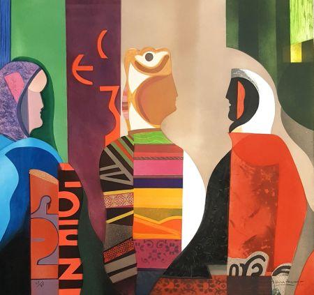 Etching Papart - Les Trois Femmes