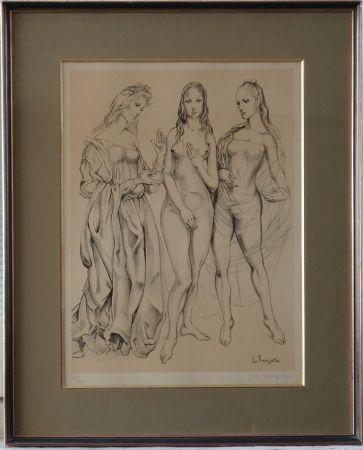 Lithograph Foujita - Les Trois Graces